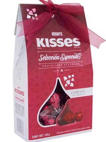 Chocolates Kisses hershey´s de Cereza