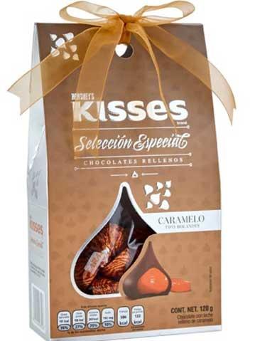 Chocolates Kisses hershey´s de sabor a  Caramelo