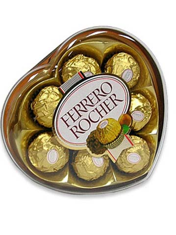 Chocolate Ferrero de corazon