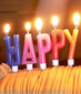 Velas Happy Birthday